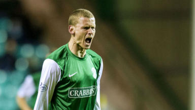 Scott Robertson, Hibernian, October 2013.