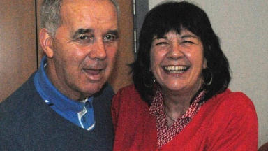 Campaign: Mrs Kopel with husband Frank.