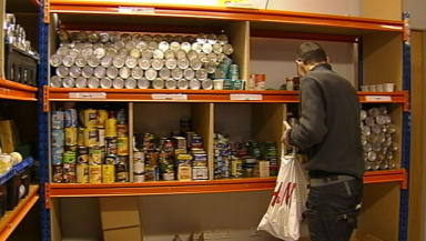 Inside the Glasgow City Mission foodbank, February 24 2014
