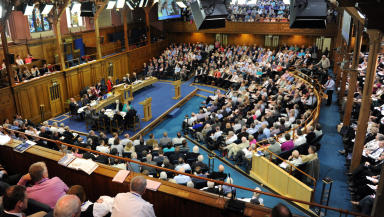 The General Assembly of the Church of Scotland votes to allow gay and lesbian ministers.