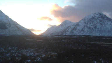 Glen Coe: Woman died while hill-walking.
