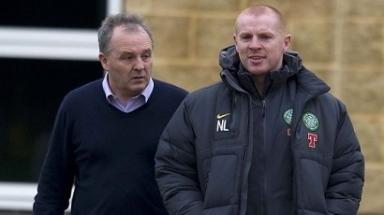 Celtic manager Neil Lennon with John Park