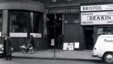 Underground overground: The St George's Cross station in 1962.