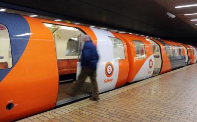 A Subway train today