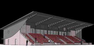 Artist's impression of Cove Rangers FC's new stadium.