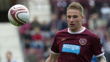 Hearts forward Ryan Stevenson.
