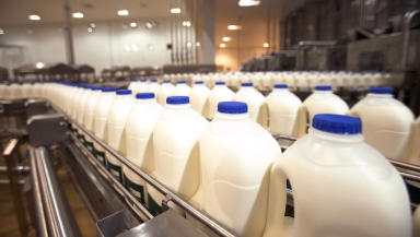 Milk: Muller reveals plans to shut Aberdeen and East Kilbride plants (file pic).