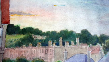 UFO: James Black painted this picture of a UFO he saw over Edinburgh in 1958. One of many unexplained incidents.