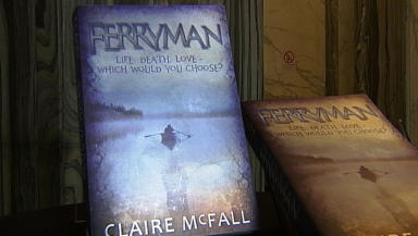 Claire McFall ferryman book cover chldren's book award winer March 5 2014