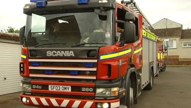 Emergency services: Rescued a man from a flat.