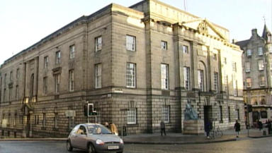 Trial: Jake Hawkins was on trial for rape at the Edinburgh High Court.