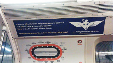 Wings over Scotland subway ad. Taken by Wings reader Lynn Philips but no credit requested.
