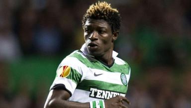 Celtic striker Mohamed Bangura.