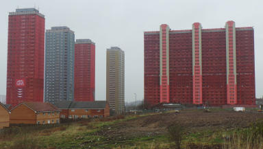 Red Road Flats Glasgow quality image