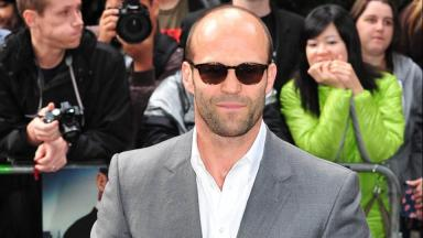 Shaw: Statham gears up for filming.
