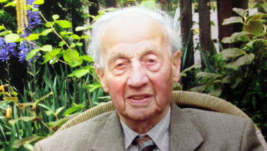 Scotland's former oldest man Tom MacIver who died aged 107 in April 2014. Family collect.