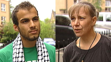 Back home: Ali El-Awaisi and Theresa McDermott.