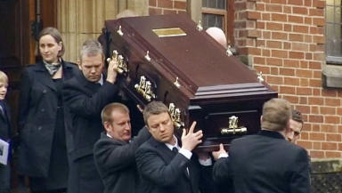 Funeral held: The Glaswegian was kidnapped while working in Iraq in 2007.