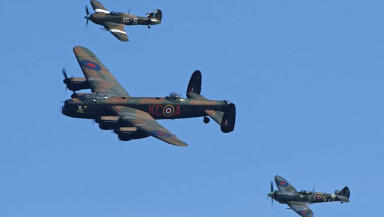Battle of Britain memorial flight BBMF pic supplied by VisitScotland to illustrate article about Scottish Airshow