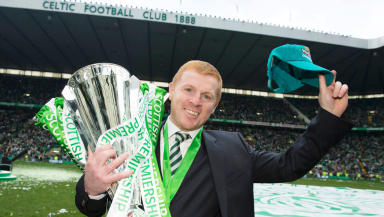 Boyhood idol: McAvoy will play alongside former Celtic player and manager Neil Lennon.