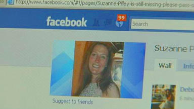 Online: Friends set up Facebook page to help search for missing Suzanne Pilley.