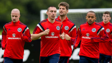 Scotland players prepare for their international friendly with Nigeria.