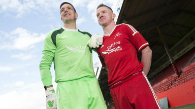 Jamie Langfield and Jonny Hayes in June 2014