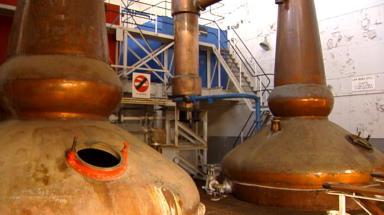 Glenglassaugh Distillery in Portsoy, Aberdeenshire. Whisky maker