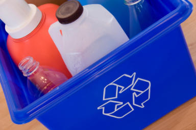 Recycling: The plant recycles glass products.