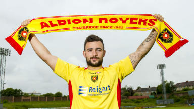 Gary Fisher, Albion Rovers, June 2014.