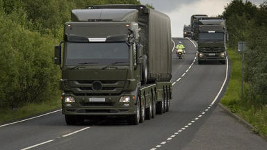 Secretive: Local authorities are given no notice of nuclear convoys.