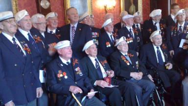 Russian honour: Medal awarded to veterans.