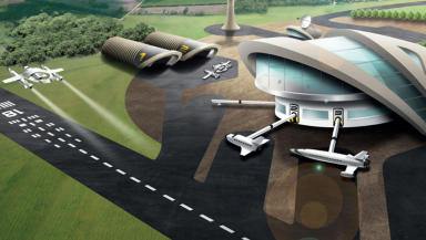 Stornoway Spaceport: Concept are of how the base could look.