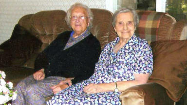 Edith Ritchie passed away at the care home in Aberdeenshire where she lived with her sister Evelyn Middleton on Saturday.