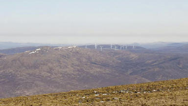 Windfarm near Loch Ness in Highlands