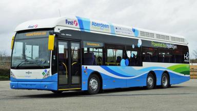 Aberdeen's hydrogen bus fleet.
