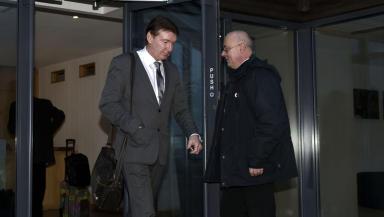Outgoing Rangers director of football Gordon Smith (left).