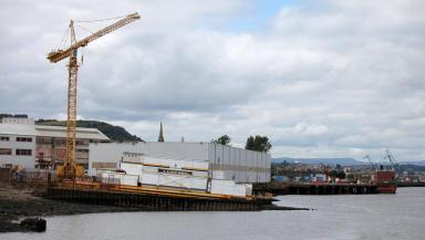 Ferguson shipbuilders in Port Glasgow,Inverclyde, August 15 2014