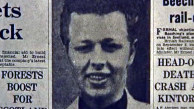 Harry Burnett archive newspaper clipping with picture used in report of anniversary of execution