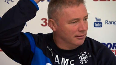 Ally McCoist refuses to answer non-football questions at Rangers news conference August 29 2014