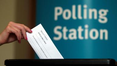 Scottish independence referendum voting at polling station ballot box quality indyref