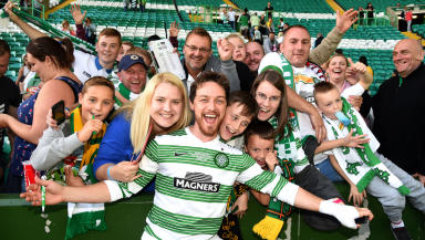 James McAvoy: Hollywood star bringing A-list glamour to Celtic Park.