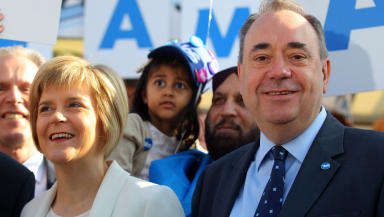 Alex Salmond and Nicola Sturgeon independence campaign September 10 2014 quality indyref