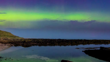 The Northern Lights, aurora borealis, above Caithness on the night of Friday, September 12, 2014.