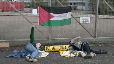 Thales Gaza demonstration Glasgow September 23 2014