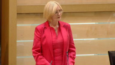 Tricia Marwick: Presiding officer rejected bid to stop UK trade union bill.