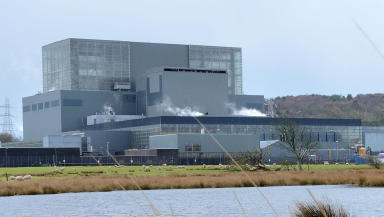 Hunterston B Advanced Gas Cooled (AGR) nuclear power station energy industry in Ayrshire