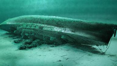 Royal Oak: Wreck of battleship lies on seabed.