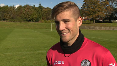 Frederic Frans is thrilled with his move to Partick Thistle.