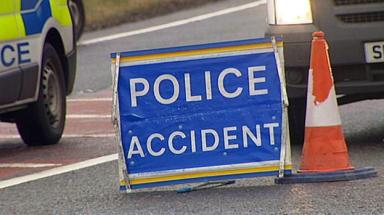 Crash: The two-car smash happened on Saturday.